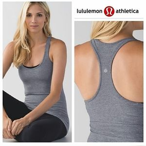 Lululemon Heathered Gray Cool Tank 8